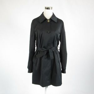 DKNY black long sleeve trench coat L